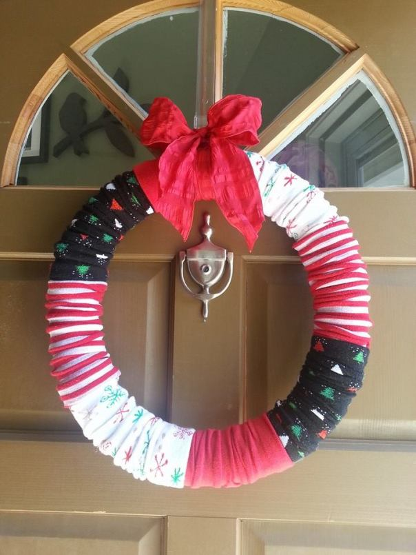 sock-wreath