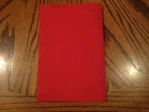 Fold with sparkle side inside the fold