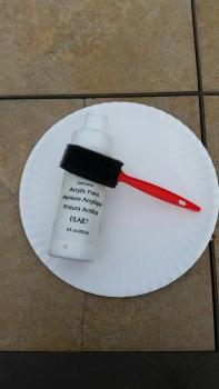 Basic acrylic white paint