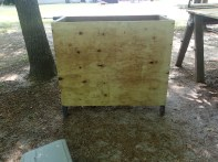 An almost enclosed cabinet